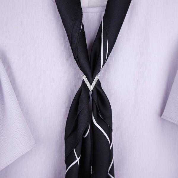 Anneau de foulard V - Argent