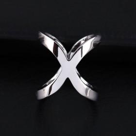 Anneau de foulard X – Argent
