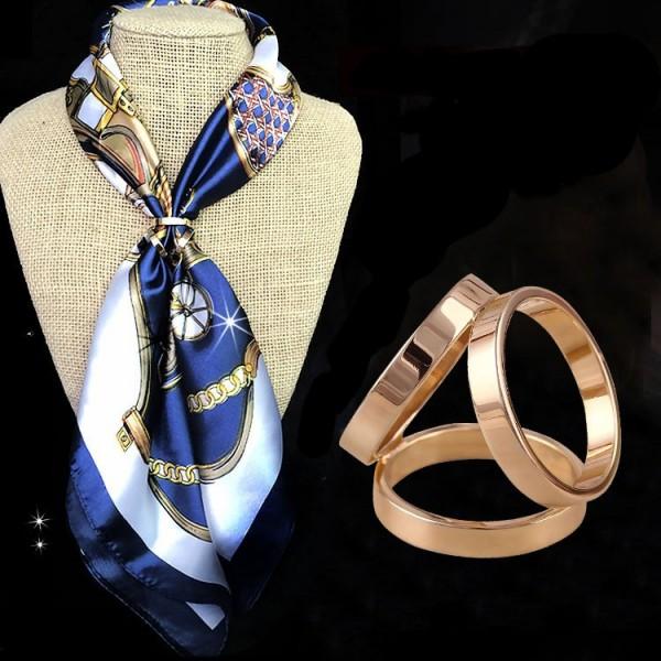 Anneau de foulard Trièdre
