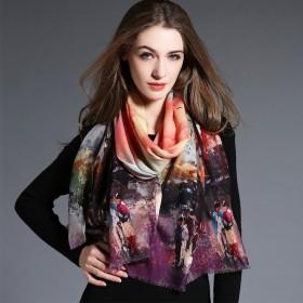 Écharpe en laine violet