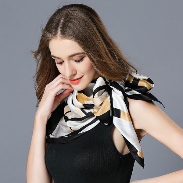 Grand foulard soie Lydie blanc