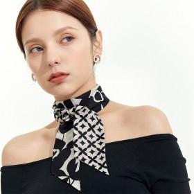 Foulard bandeau soie Muse noir