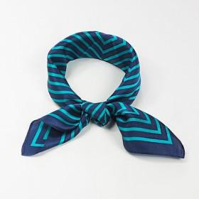 Petit Foulard Soie Femme Bleu ★ Ondes