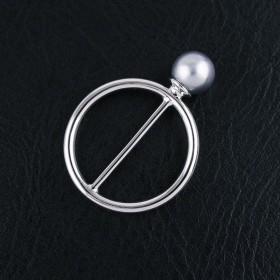 Anneau de foulard Perle - Or Blanc