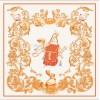 Foulard en Soie Femme Orange 90cm ★ Nomade