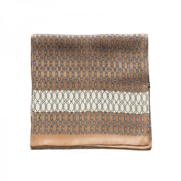 Echarpe homme en soie cordes nouées - beige- Au Nom de la Soie