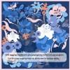 Foulard en Soie Femme Bleu ★ Laurie