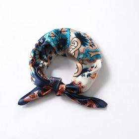 Petit Foulard en Soie Femme Bleu ★ Joy