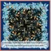 Grand Foulard en Soie Femme Bleu ★ Flore
