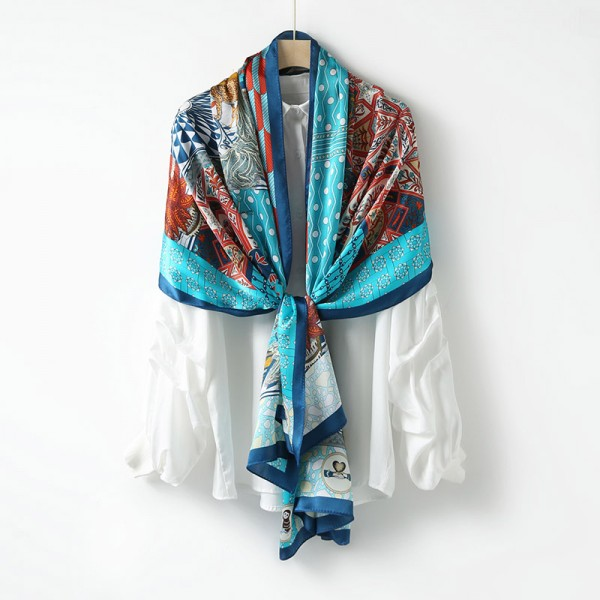 Grande écharpe soie Silvia