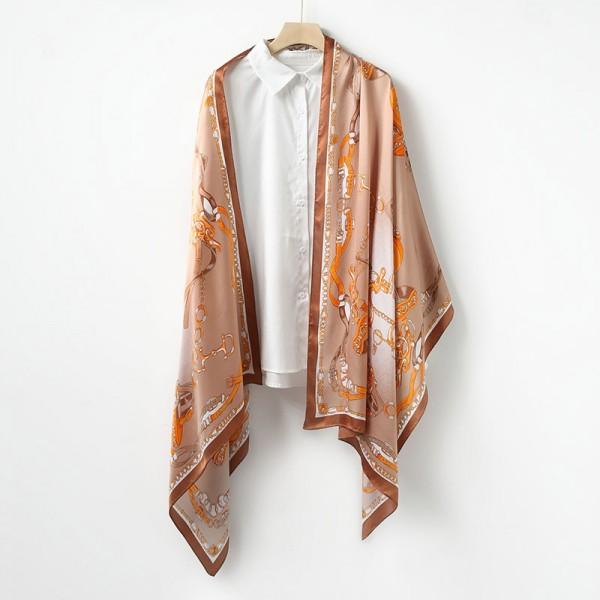 Grande écharpe soie beige margot