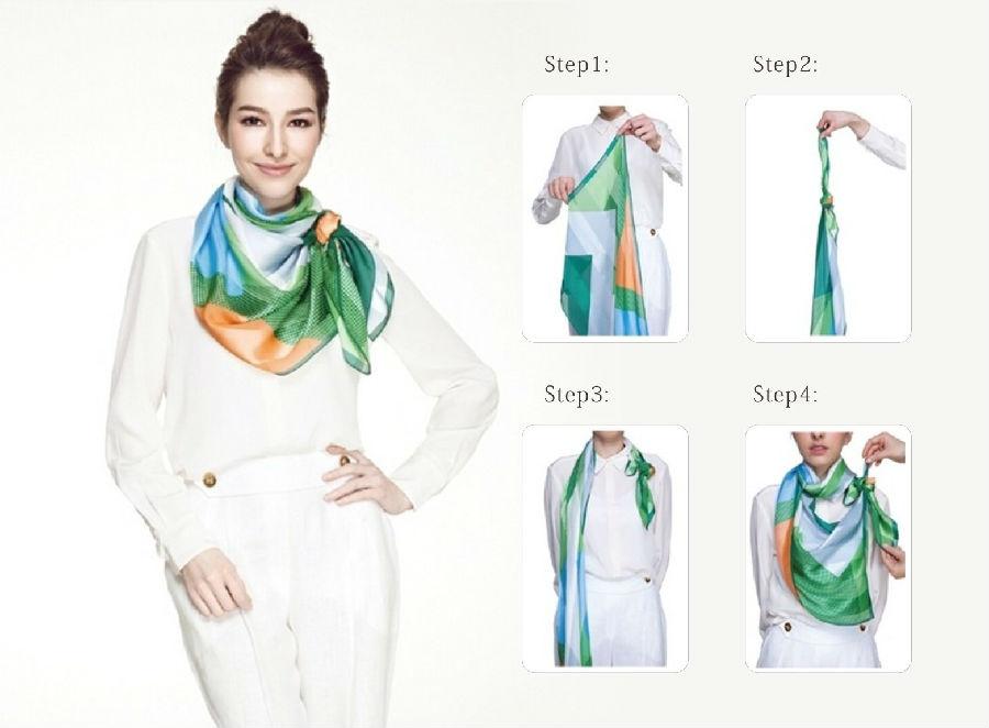 foulard femme soie