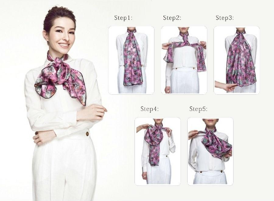 porter un foulard en soie